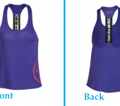 Zumba racerback top – amethyst (medium size)