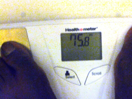My weight 060812