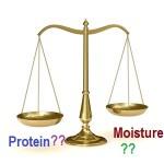 protein or moisture