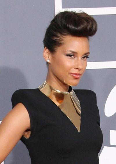 Super Celebrity Hair Crush Alicia Keys Rocking The Pompadour Short Hairstyles For Black Women Fulllsitofus