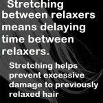 Stretch between relaxers