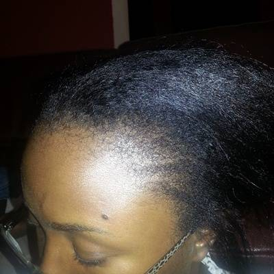 left side of relaxed hair Dec 30th 2012