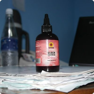 Sizzling mommy uses jamaican black castor oil serum