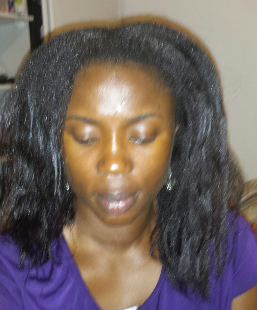 wash day blow dried nigerian hair blog