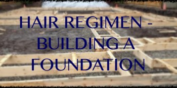 HAIR REGIMEN -BUILDING THE FOUNDATION