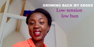 Growing back my edges style 1