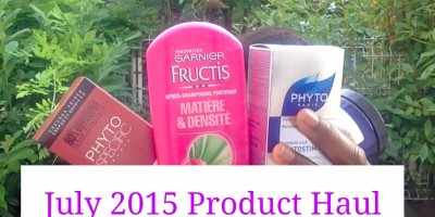 July 2015 hair product haul